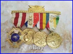 Cuba WW1 Republic Cuban 4 SEPT UNIFORM Merit Medal RIBBON 1933 MILITARY MERIT