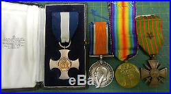 DSC, WW1 double gallantry medal group of 4 G. D. SMITH RNAS / RAF British