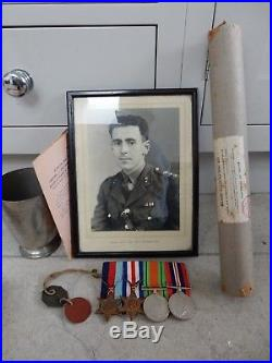 Ef84 WW2 Group Medals Durham Light Infantry later Captain J. R. Young