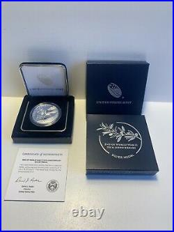 End Of World War 2 75th Anniversary Silver Medal US Mint In Hand