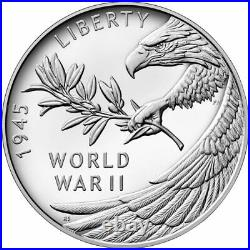 End of World War II 75th Anniversary Silver Medal Coin PRESALE