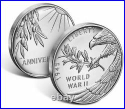 End of World War II 75th Anniversary Silver Medal PRESALE