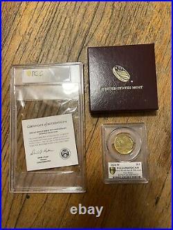 End of World War II WW2, 75th Anniversary 24-Karat Gold Medal Coin PCGS PR69DCAM