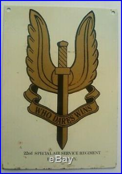 Excellent WW2 SAS Special Air Serivce Group to Cpl F. G. Harrison Medal badge