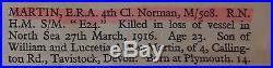 FAMILY BRITISH WORLD WAR 1 & 2 MEDAL GROUPS KIA HMSub E24 & HMS JAGUAR AB0115