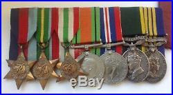 Fine WW2 medal group inc Territorial efficiency emergency Reserve