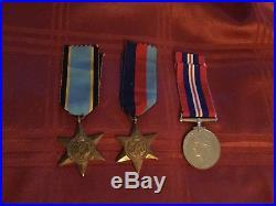 Genuine WW2 Trio 39/45 Star, Air Crew Europe Star & British War Medal