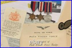 Genuine Ww2 Raf Casualty Pathfinder Medal Group