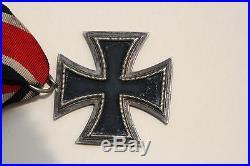 German 1939 WW2 Iron Cross Medal Badge with Ribbon Original WWII