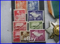 German Azad Hind India Legion Medal & stamps, ww2
