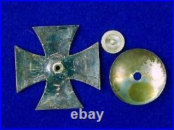 German Germany Antique WW1 Iron Cross 1 Cl Screwback Medal Order Badge Pin Award
