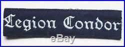 German WW2 Luftwaffe Legion Condor Cuff Title KG 53, badge shield medal