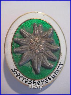 German WW II Wehrmacht mounty award Heeresbergführer soldier 1944 rare medal