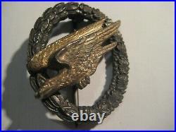 German WW II airborne paratrooper badge medal air force stamp from Assmann stamp