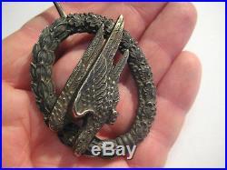 German WW II medal original air force air borne badge producer marker 1 rare
