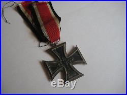 German WW II medal original iron cross with ribbon iron cross second class