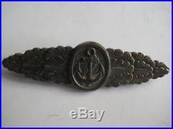 German WW II original close combat medal from Assmann antique Kriegsmarine rare