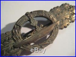 German WW II original submarine combat medal from Schwerin antique Kriegsmarine