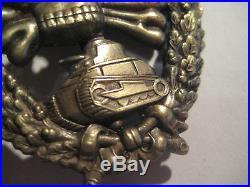 German WW I WW II tank fight medal award badge Juncker rare fight medal antique