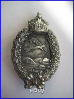 German WW I air force prussia pilot medal genuine antique engraving name 1918