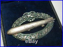 German WW I german airship medal imperial medal 100 % original WW I Zeppelin