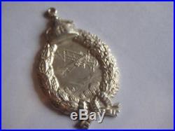 German WW I original solid silver 800 pilot badge antique prince size rare medal