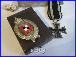 German WW I prussia air force Juncker observer medal old case original badge