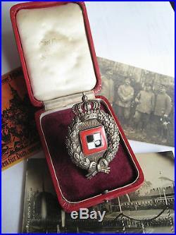 German WW I prussia air force Poellath observer medal old case original badge