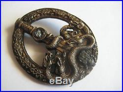 German golden anti partisan badge WW II rare medal original valuable antique