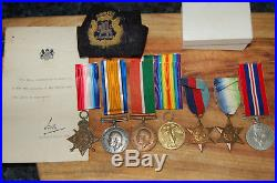 Group of 7 medals to Navy who was killed in WW2 torpedo attack. DUNVEGAN CASTLE