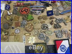Huge Fresh Estate Lot Collection Of Ww1-ww2 On Pins Medals Etc. Monster Lot