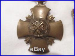 H VTG Navy Award Service Medal Ribbon WW1 WW2 II Naval LOT x4 Set Star Pin Bar