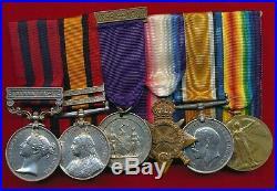 IGS Burma 1885(1st Bn Rifle Brigade), QSA. CC, OFS (Warwick Regt) WW1 trio 12Bn AIF