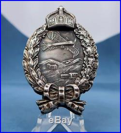 Imperial German tunic badge WWI WW2 soldier uniform silver medal pilot pin order