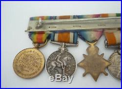 India Boer War Qsa Ksa Ww1 1914-15 Star Trio Miniature Medal Group Of 6