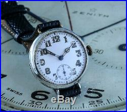 Inscribed WW1 Trench Watch Owned By VC Medal Winner Silver Case Dated to 1916