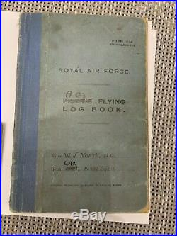 Inter War 1923-1930 AIR GUNNERS LOG BOOK And Ww2 Medals