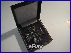 Iron cross first class original awards silver KO medal WW II WW I original case