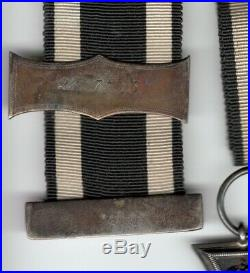 Iron cross lot of 3 german medals badges WW1 very nice ribbons marked estate vet