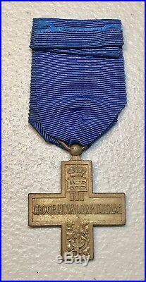 Italy WW2 Cross Military Valor 1943 Italian War Decoration Medal Merit Kingdom