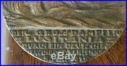 Karl Goetz German Medal Sinking Lusitania World War I Maritime Rare 5 Mai Cunard