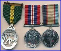 King George VI Efficiency Decoration Australia Bar & WW11 BWM & ASM Trio
