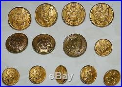 Lot Vintage WW ii 2 US NAVY Medals Buttons 1920′s 1930′s