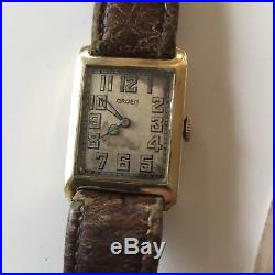 Lot WW1 Canadian Brig General Vimy Ridge Solid Gold Gruen Watch, Medal & Photo