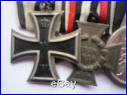 MEDAL WW1 GERMAN 5 GROUP EK2 NON COMB + C of H + EHRENZEICHEN + WILHELM + KYFH