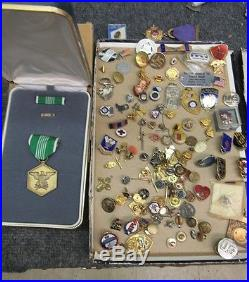 Monster Estate Lot Collection Of Pre Ww1-ww2 On Pins Medals Etc. Huge Lot Look