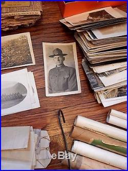 MUSEUM QUALITY WW1 / WW2 LOT! FATHER & SON, Uniforms, photos, medals, helmet