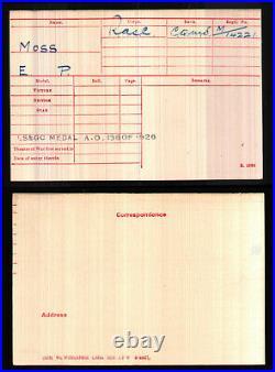 Medal British Egypt Ww1 Long Service Good Conduct 3874 M/14221 M/25327 E P Moss