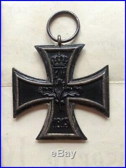 Medal German Ww1 Iron Cross 2nd Class & Award Certificate Untoff. Karl Dittman