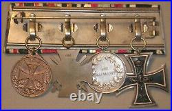 Medal Ww1 German Group Of 4 Ek2 + Hessen + Cross Of Honour + Fur Deutschland